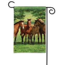 Grazing Time Garden Flag