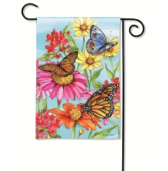 Field of Butterflies Garden Flag
