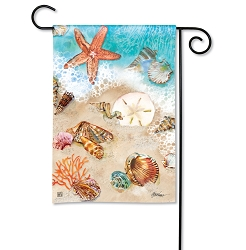 Seashore Treasures Garden Flag