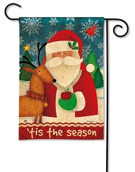 Tis The Season Garden Flag