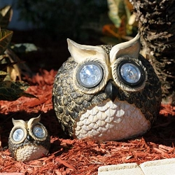 Garden Pals Solar Owl Accent Light Set of 2