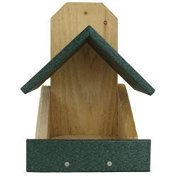 Robins Roost Cedar and Poly Nesting Platform Green