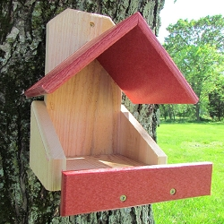 Robins Roost Cedar and Poly Nesting Platform Red