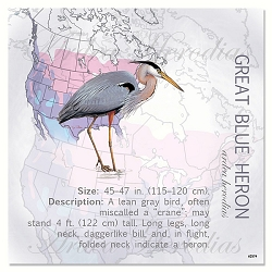 Great Blue Heron Eco Magnet