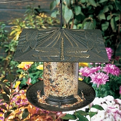Classic Dragonfly Seed Tube Feeder Small French Bronze