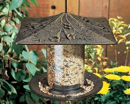 Classic Trumpet Vine Seed Tube Feeder Small French Bronze