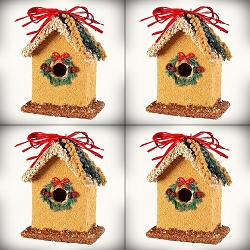 Birdie's Bed & Breakfast Bluebird Wreath House 4-Pack