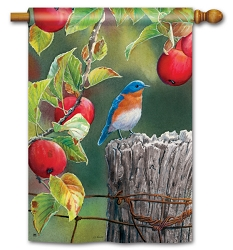 Orchard Bluebird House Flag
