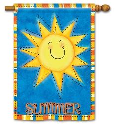 Summer Sun Double Sided House Flag