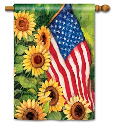 American Sunflowers House Flag