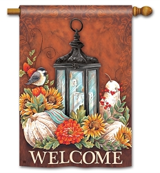Fall Lantern House Flag