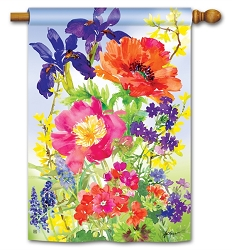 Garden Blooms House Flag