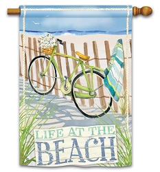 Beach Trail House Flag