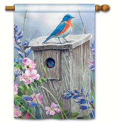 Bluebird Lookout House Flag