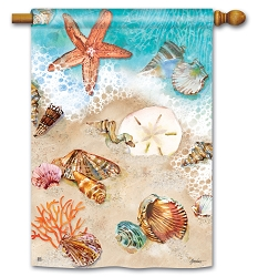 Seashore Treasures House Flag