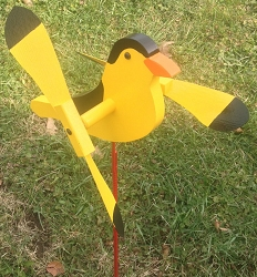 Whirly Bird Goldfinch Spinner