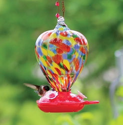 Balloon Art Glass Hummingbird Feeder