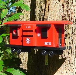 Railroad Red Caboose Birdhouse