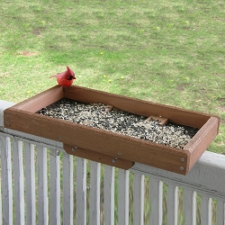 Deck and Post Tray Bird Feeder