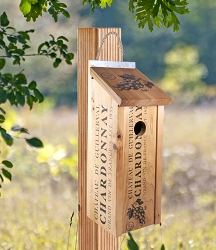 Novelty Wine Crate Bluebird House