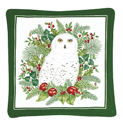 Snowy Owl Spiced Mug Mat Set of 4