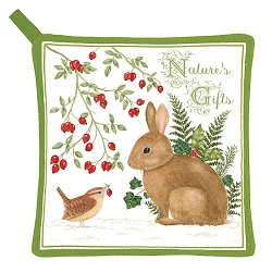 Winter Bunny Potholder