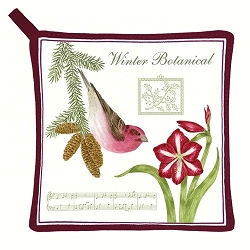 Purple Finch Potholder