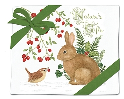 Winter Bunny Flour Sack Towel Set of 2