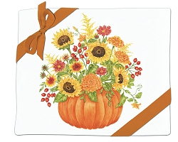 Pumpkin Bouquet Flour Sack Towel Set of 2
