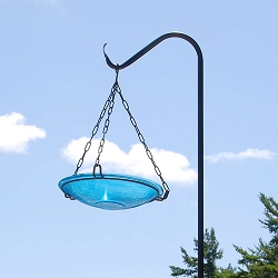 Crackle Glass Hanging Bird Bath 14