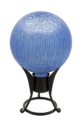 Crackle Glass Gazing Globes Lapis Blue 6