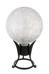 Crackle Glass Gazing Globes Silver 6