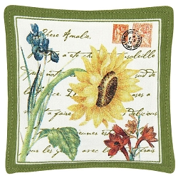 Flower Postcard Spiced Mug Mat Set of 4