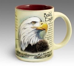 Bald Eagle 16 oz. Stoneware Coffee Mug