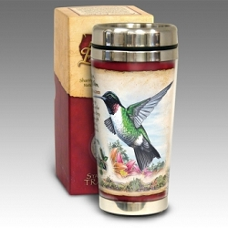 Hummingbird 16 oz. Steel Travel Mug