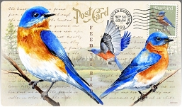 Eastern Bluebird Vintage Series Tempered Glass Cutting Board