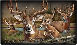 Whitetail Deer Collage Series Tempered Glass Cutting Board