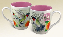 Hummingbird Vintage Series Coffee Mug Set of 2