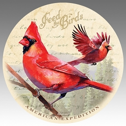 Northern Cardinal Vintage Series Absorbent Stone Coaster Set of 4