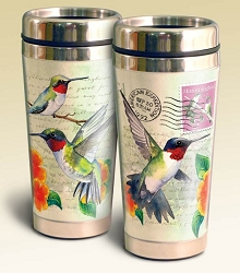 Hummingbird Vintage Series 16oz Steel Travel Mug