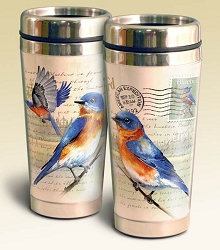 Eastern Bluebird Vintage Series 16oz Steel Travel Mug