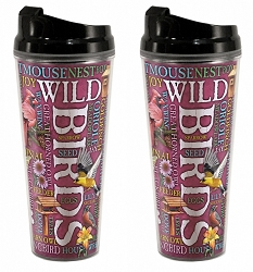 Wild Birds Acrylic Tall Tumbler 24 oz. Set of 2