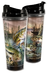 Bass Acrylic Tall Tumbler 24 oz. Set of 2