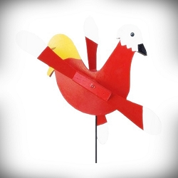 Whirly Bird Red Rooster Spinner