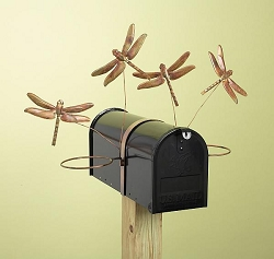Flamed Copper Dragonfly Mailbox Pot Holder