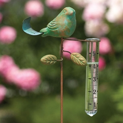 Bird Rain Gauge Teal