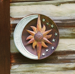 Flamed Copper & Zinc Celestial Wall Disc 12