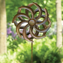 Camelia Wind Spinner w/Stake