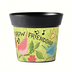 Studio M 6 Inch Art Pot Grow Friendship