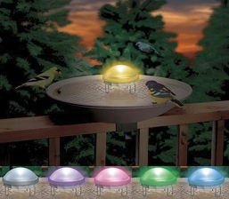 Aurora Lighted Water Wiggler Bird Bath Agitator